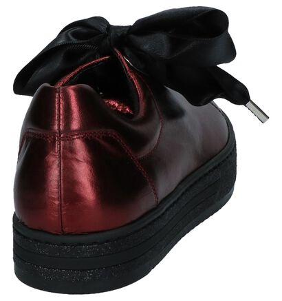 Metallic Donker Blauwe Sneakers Gabor Optifit in leer (231156)