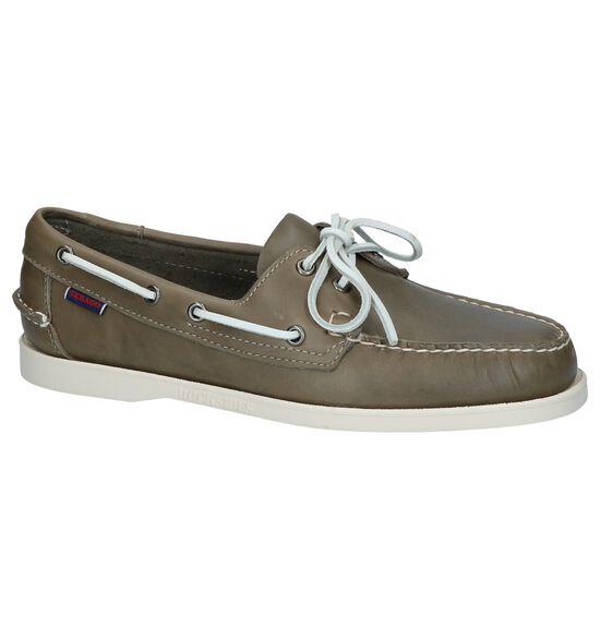 Sebago Chaussures bateau en Vert kaki