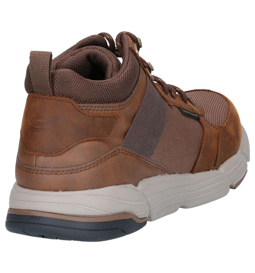 Skechers Metco Beltop Chaussures hautes en Brun en cuir (262809)