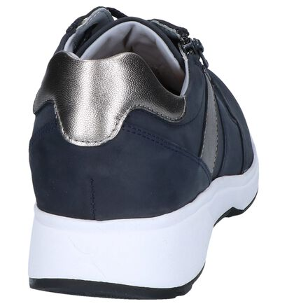 Xsensible Chaussures à lacets en Bleu foncé en cuir (246453)