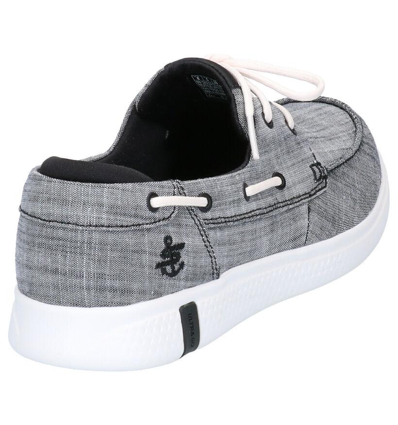 On-The-Go Chaussures bateau en Noir en textile (272741)