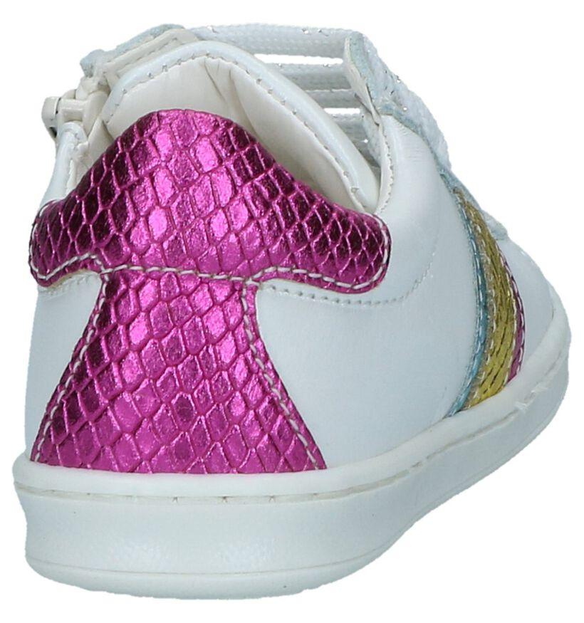 Mkids Chaussures basses en Blanc en cuir (241423)