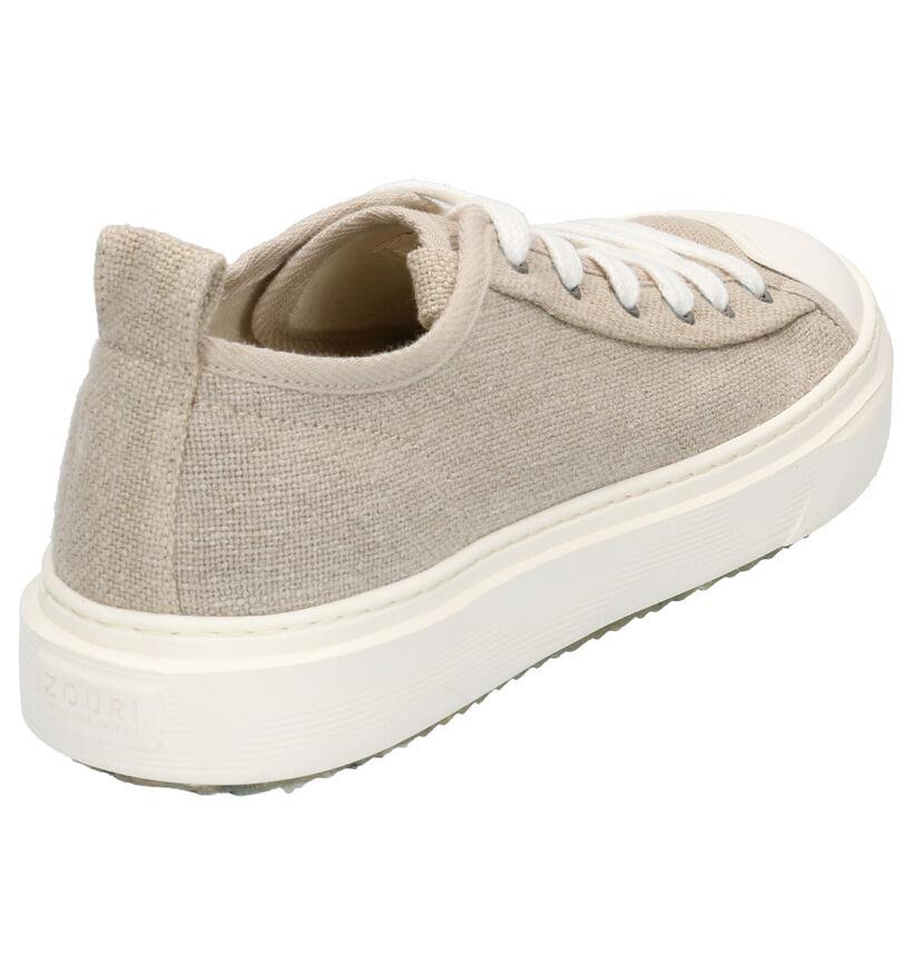 ZOURI Mahi Mahi Beige Sneakers in stof (275089)