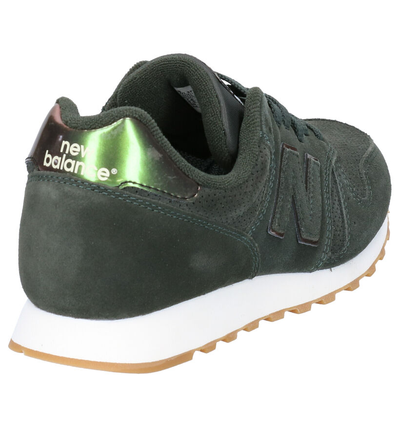 New Balance WL 373 Grijze Sneakers in daim (253408)