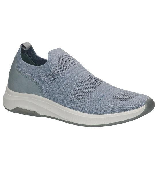 Dazzle Blauwe Slip-on sneakers