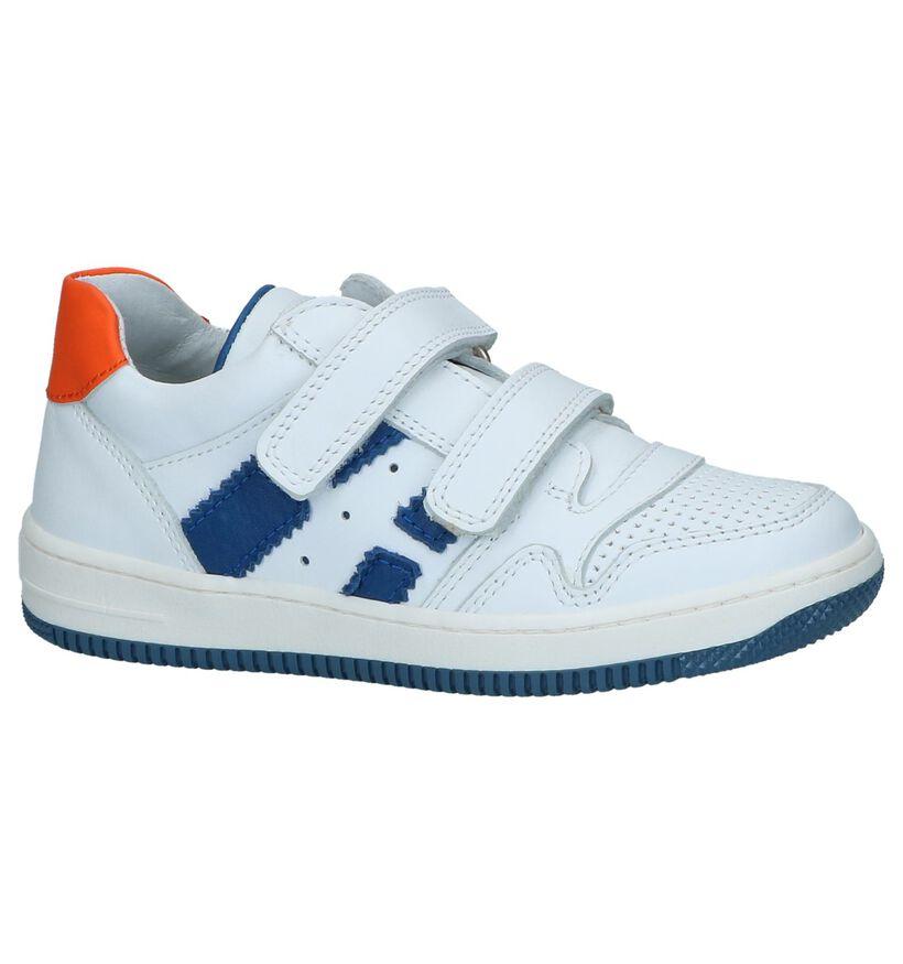 Witte Sneakers met Velcro Milo & Mila in leer (241371)