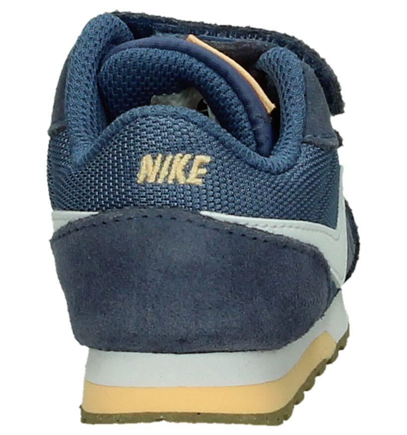 Blauwe Babysneakers Nike MD Runner in daim (198187)