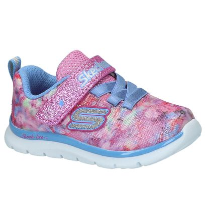 Skechers Baskets basses en Rose clair en textile (214979)