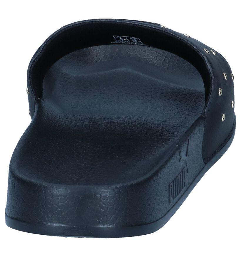 Puma Claquettes de piscine en Noir en simili cuir (239414)