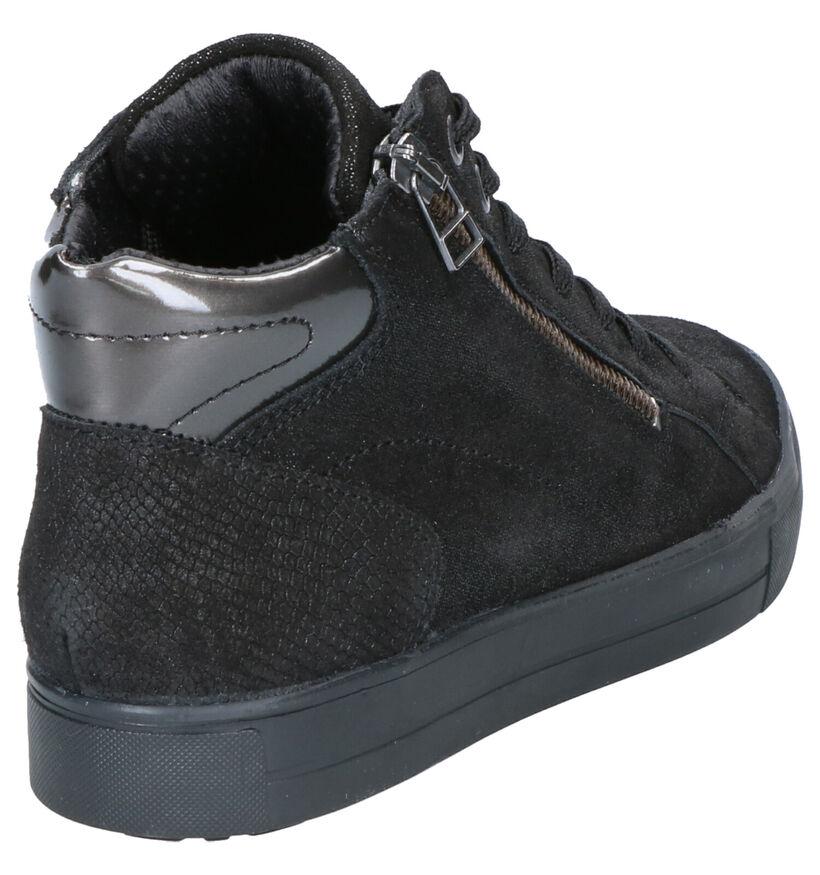 Mirel Zwarte Hoge Sneakers in nubuck (256440)