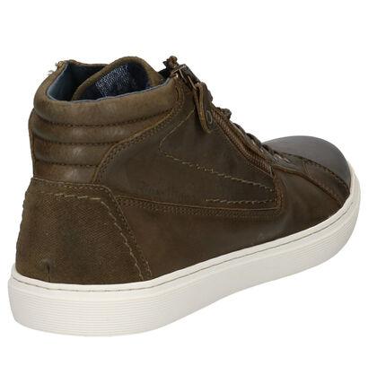 River Woods Rabbi Kaki Sneakers in leer (260320)