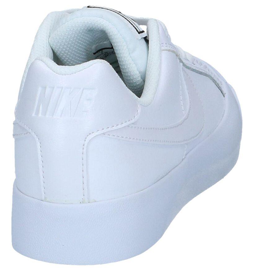 Witte Lederen Sneakers Nike Court Royale in leer (238331)