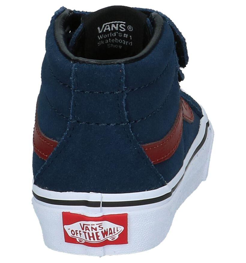 Blauwe Hoge Skate Sneakers Vans SK8 Mid Reissue in daim (207927)
