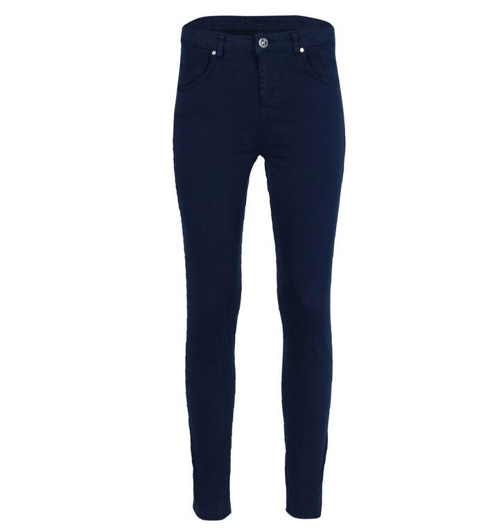 Maison Espin Blauwe Slim Fit Jeans