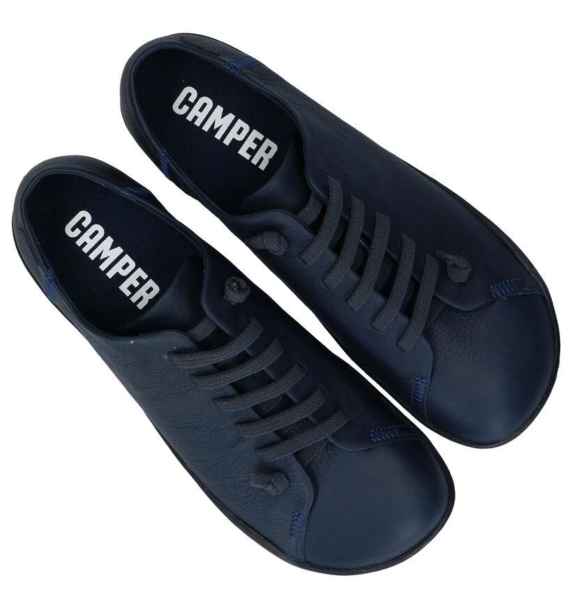 Camper Chaussures slip-on en Noir en cuir (282109)