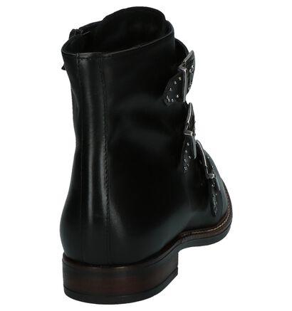 Stoere Boots Gosh Zwart met Gesp in leer (201289)