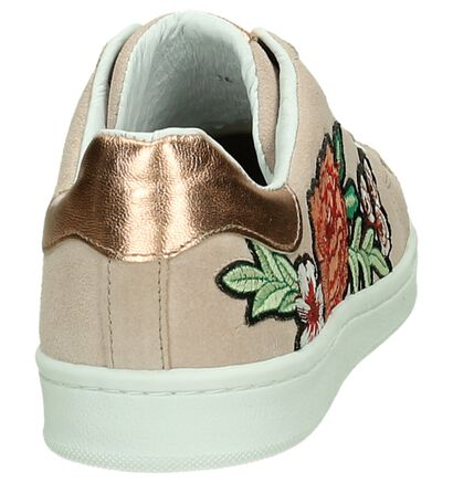 Youh! Pastelroze Sneaker met Broderie in daim (206711)