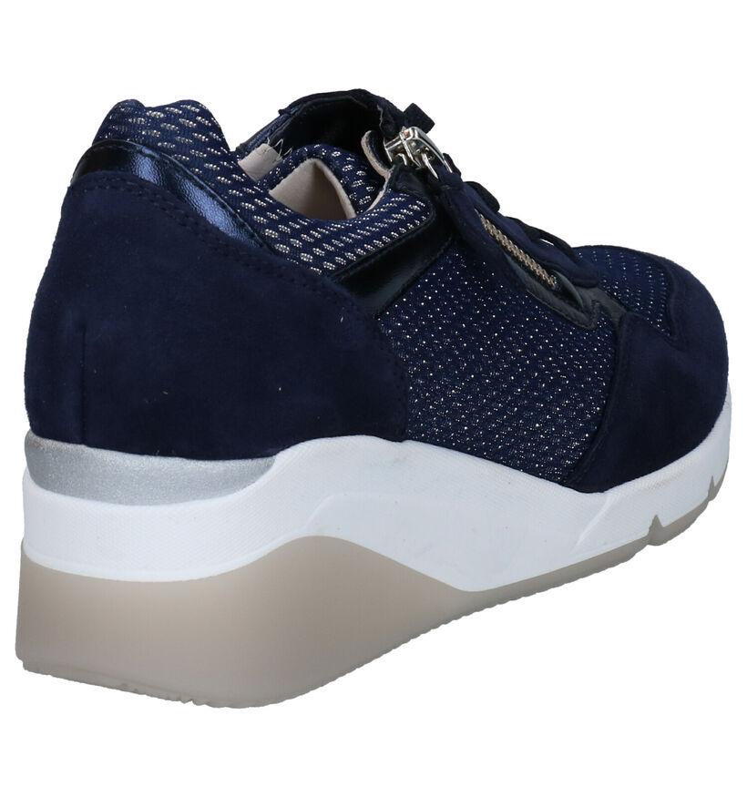 Gabor OptiFit Chaussures à lacets en Bleu en daim (271691)