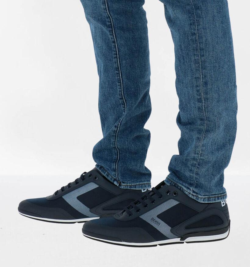 Hugo Boss Saturn Chaussures à lacets en Bleu en simili cuir (281667)