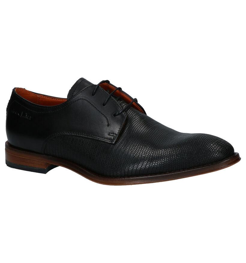 Van Lier Chaussures habillées en Noir en cuir (261908)