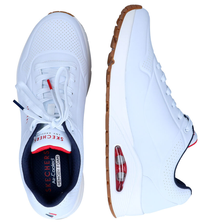 Skechers Uno Stand On Air Zwarte Sneakers in kunstleer (299862)