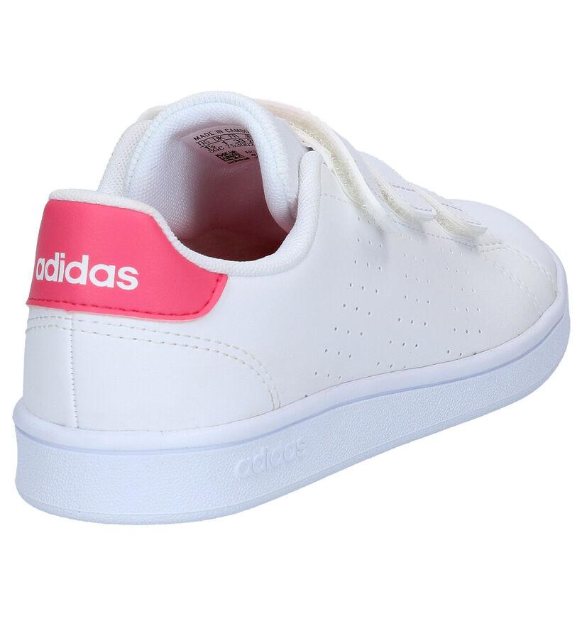 adidas Advantage Witte Sneakers in kunstleer (273502)