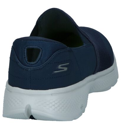 Skechers Chaussures slip-on en Bleu foncé en simili cuir (240751)