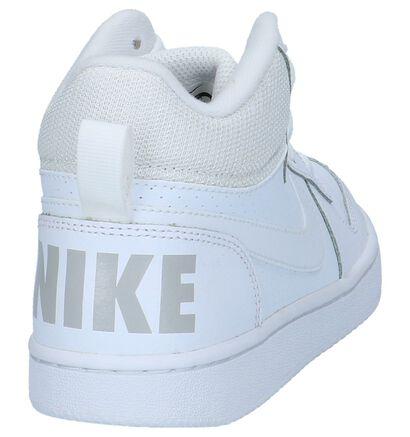 Nike Court Borough Baskets hautes en Blanc en simili cuir (222602)