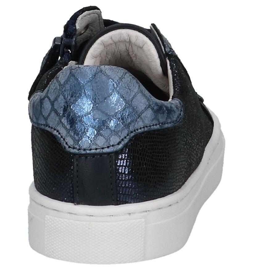 Nörvik Chaussures basses en Bleu foncé en cuir (214875)