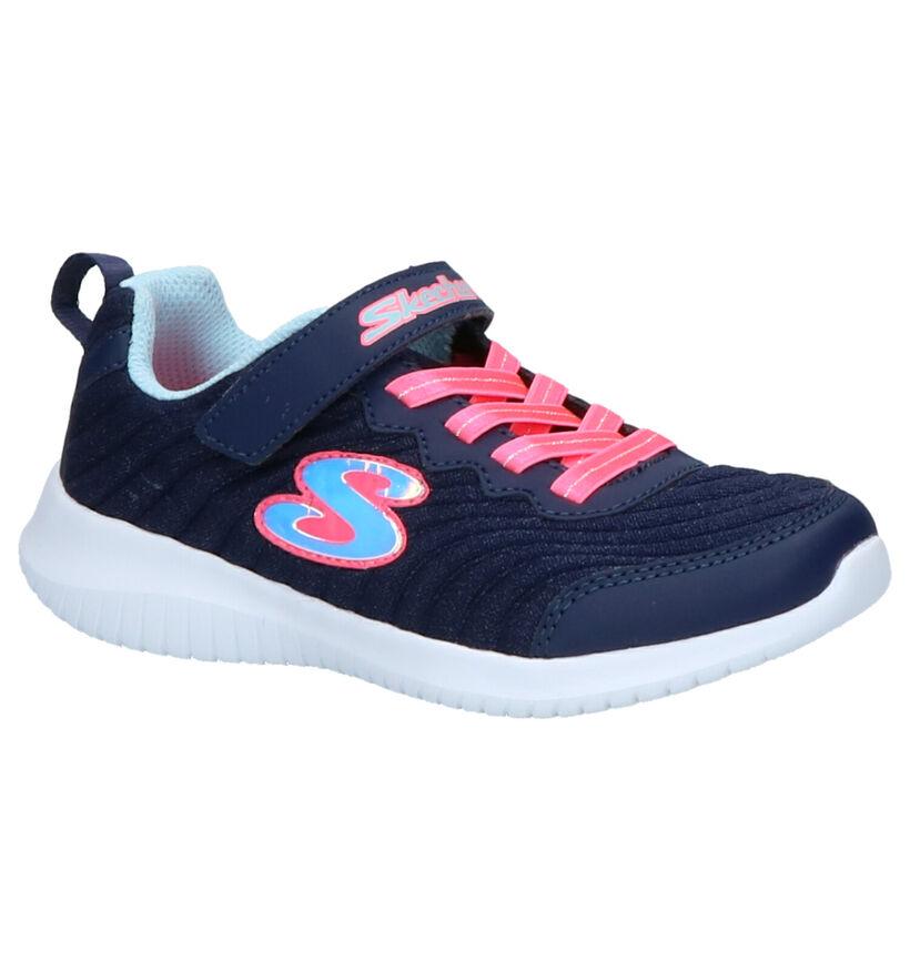 Skechers Ultra Flex Baskets slip-on en Bleu en textile (256135)