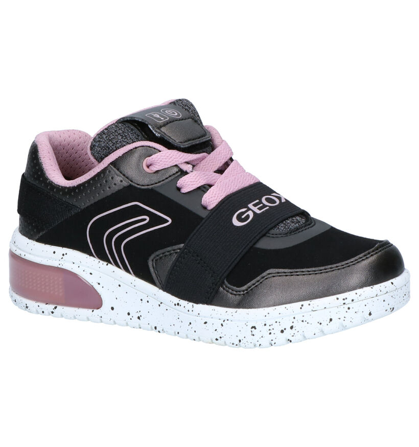 Geox Zwarte Sneakers in kunstleer (254483)
