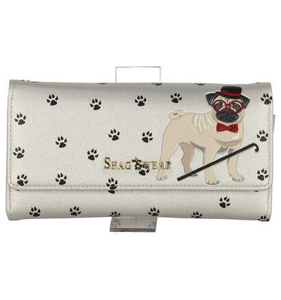 Zilveren Clutch Tasje Shagwear Pug Life in kunstleer (232853)
