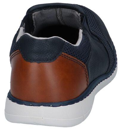 Rieker Donkerblauwe Slip-on Sneakers in leer (271970)