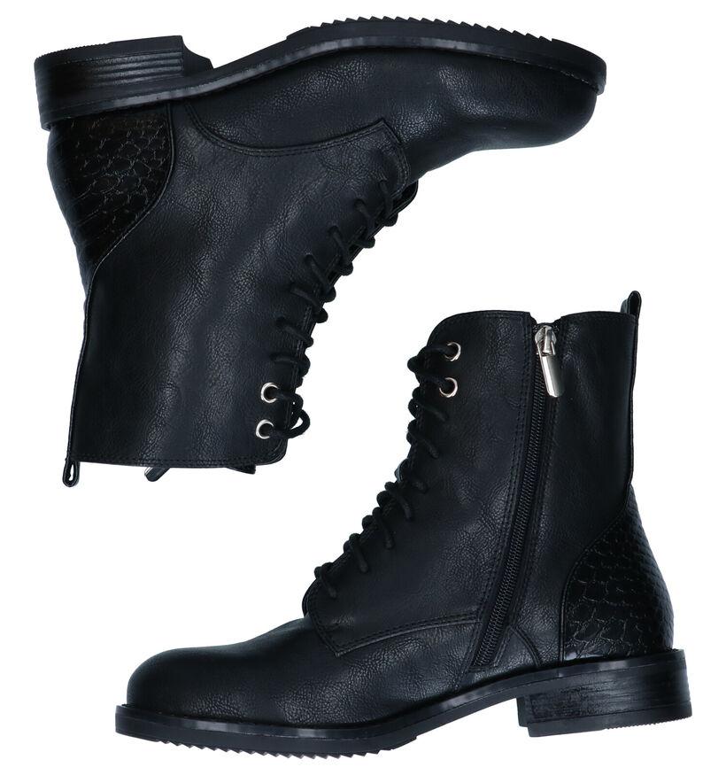 Poelman Zwarte Boots in kunstleer (291395)