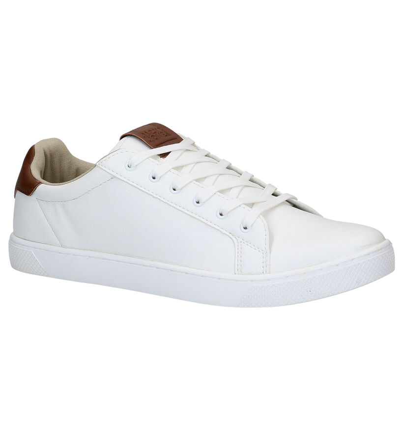 Jack & Jones Witte Veterschoenen in kunstleer (278338)