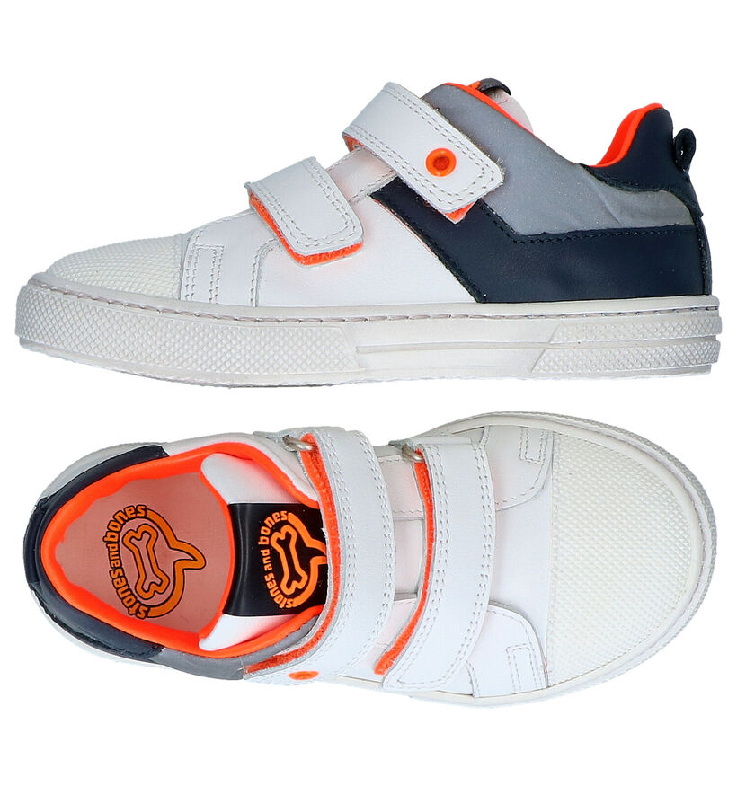 STONES and BONES Perun Witte Sneakers in leer (287846)
