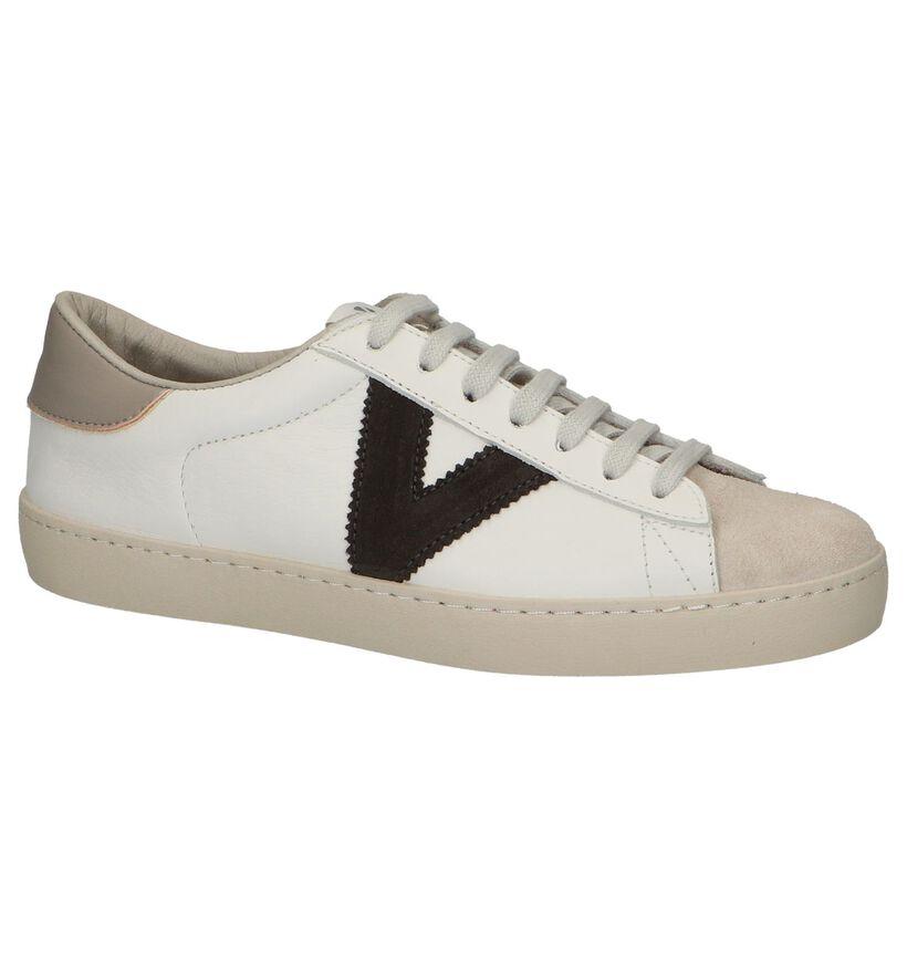 Victoria Chaussures à lacets en Écru en cuir (281978)