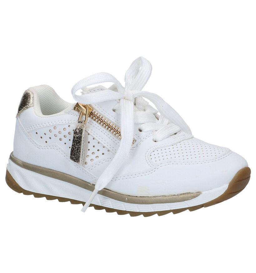 Milo & Mila Witte Sneakers in kunstleer (288235)