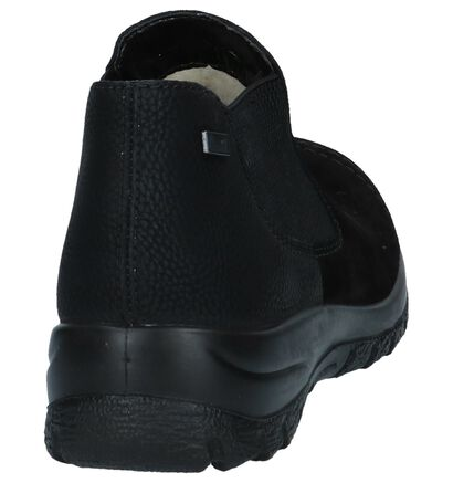 Zwarte Comfortabele Instappers Rieker in daim (241052)