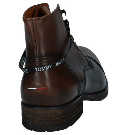 Tommy Hilfiger Dressy Leather Lace Up Boots Donker Bruin in leer (225511)