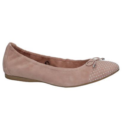 Roze Klassieke Ballerina's Tamaris Touch It in nubuck (214265)