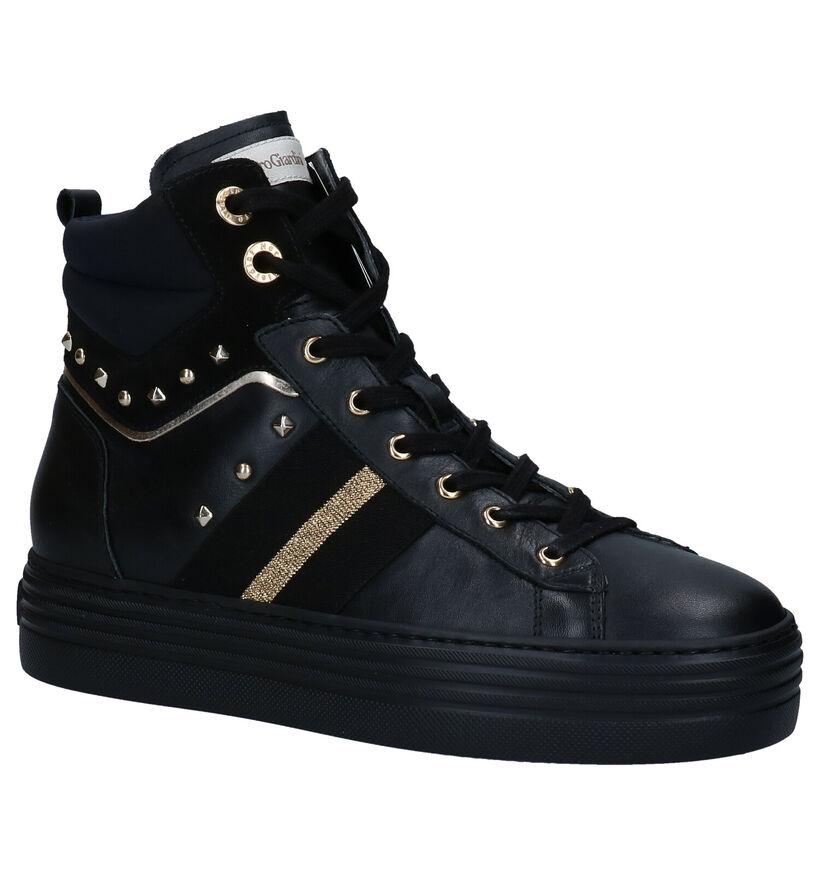 NeroGiardini Baskets hautes en Noir en cuir (278969)