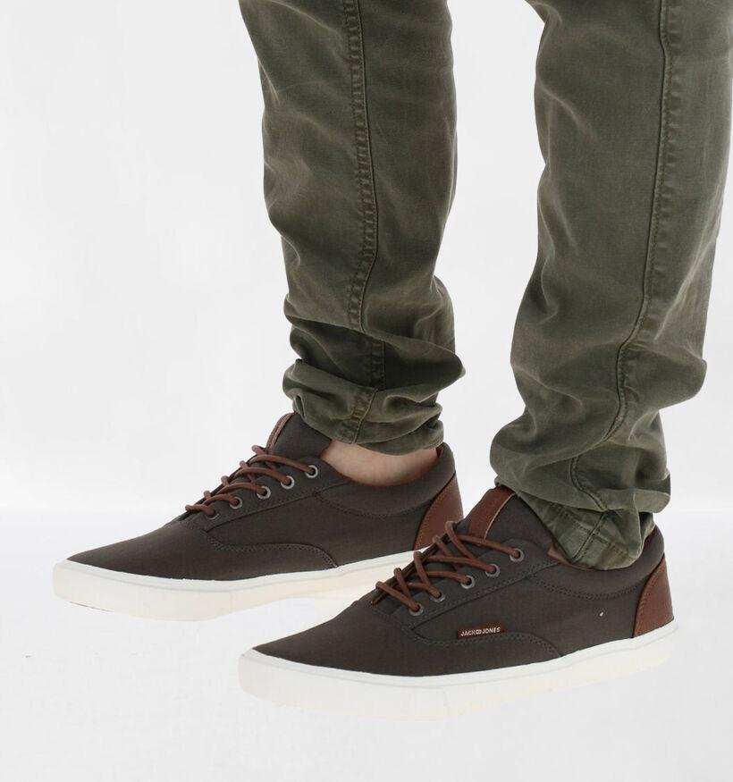 Jack & Jones Vision Classic Chaussures à lacets en Gris en textile (276406)