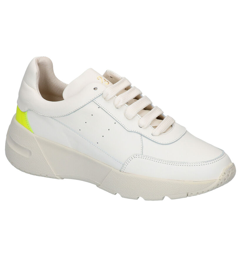 March23 Chaussures à lacets en Blanc en cuir (270000)