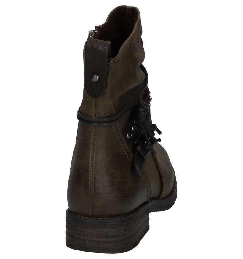 Kaki Boots met Studs Marco Tozzi in kunstleer (226318)