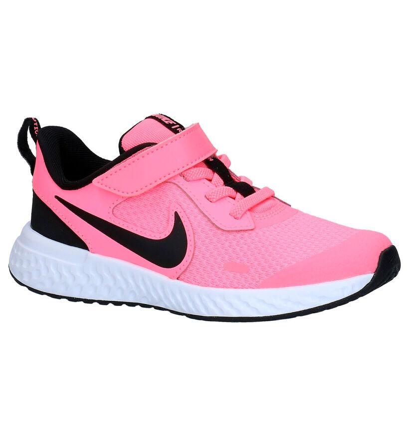 Nike Revolution Zwarte Sneakers in stof (274605)