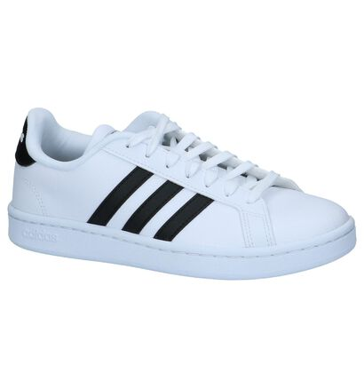 Zwarte Sneakers adidas Grand Court, Wit, pdp