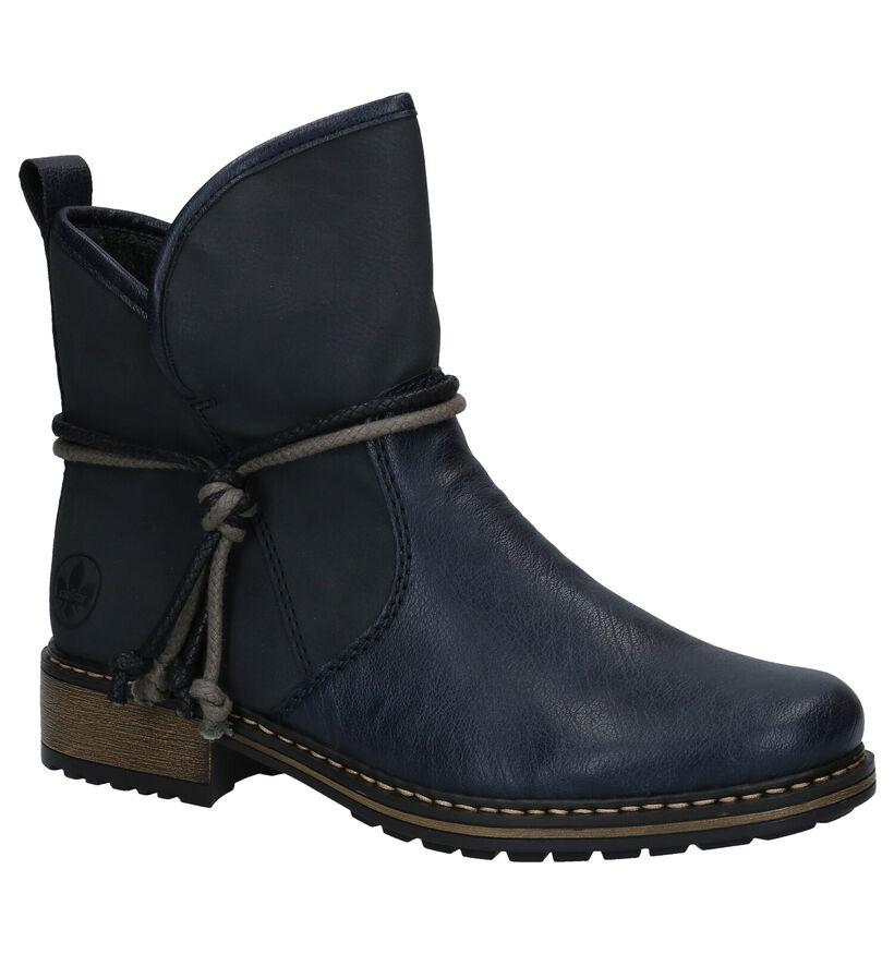 Rieker Blauwe Boots in kunstleer (285249)