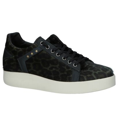 Bruine Sneakers Pantofola d'Oro Lecce Leopard Donne Low, Groen, pdp