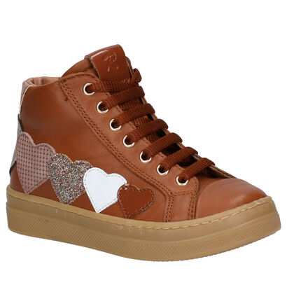 Romagnoli Chaussures hautes en Cognac en cuir (259621)